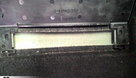 Mazda6 GH VIN-номер
