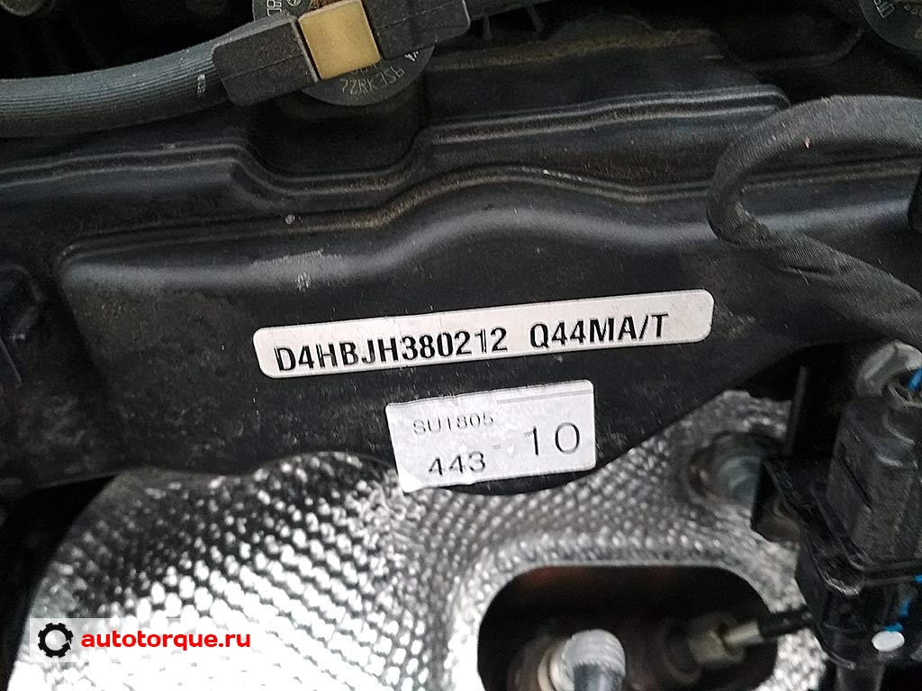 d4hb номер двигателя 2-2 crdi наклейка
