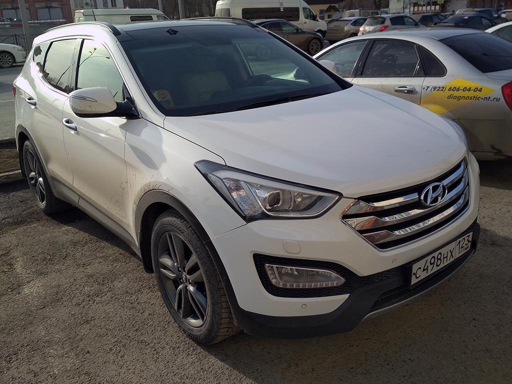 Hyundai Santa Fe 3 DM спереди