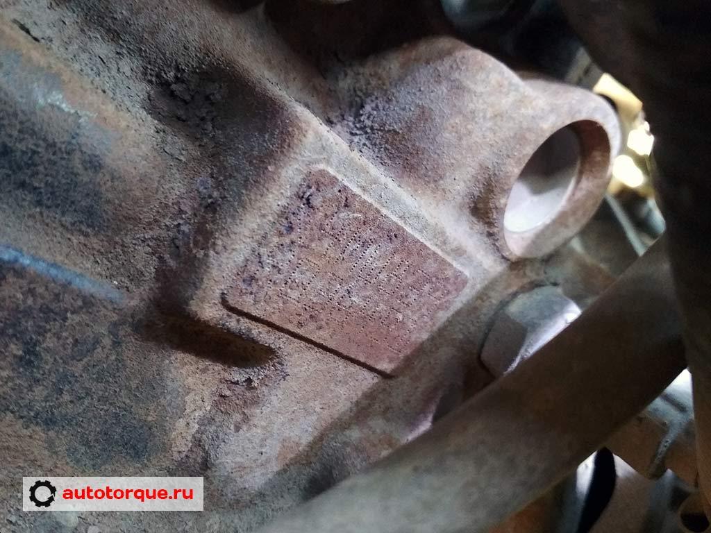 номер двигателя k4m renault