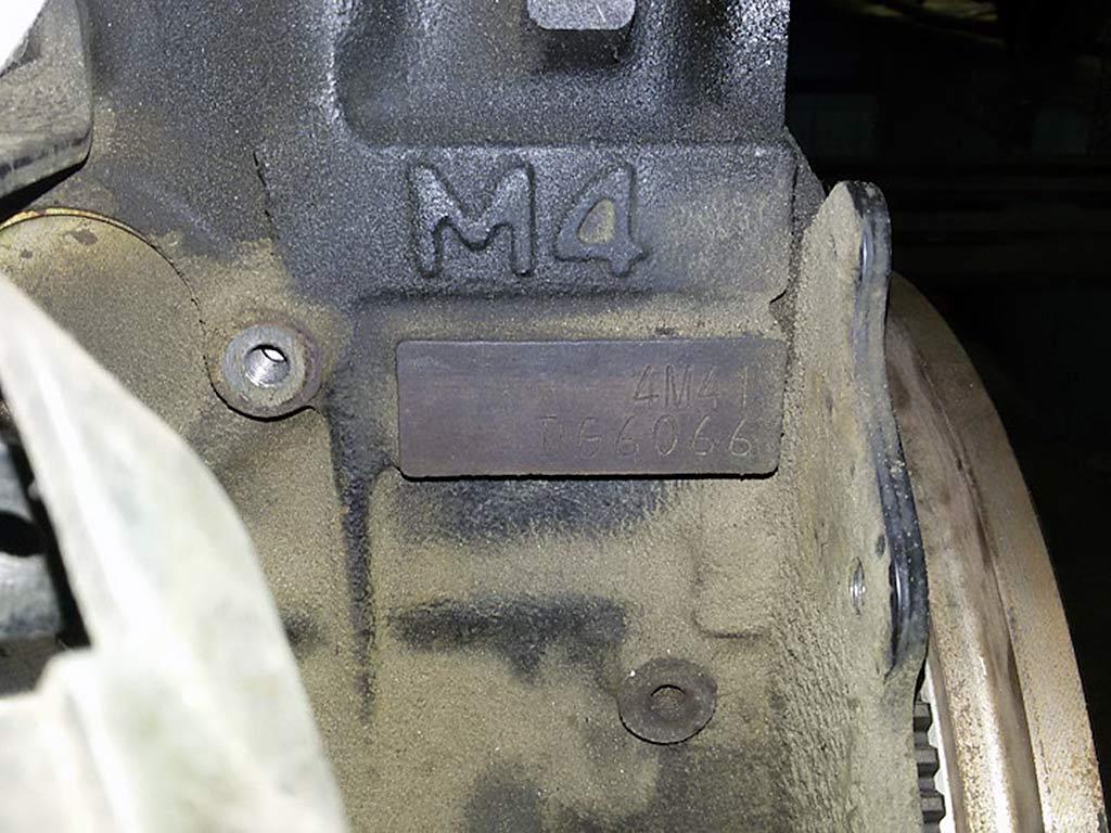 mitsubishi 4m41 номер двигателя