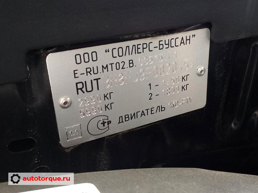 toyota land cruiser prado 150 российская сборка табличка с VIN