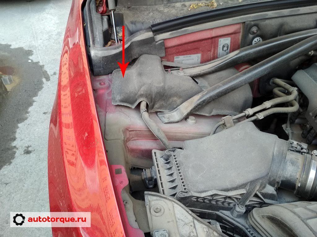 Audi Q5 VIN расположение