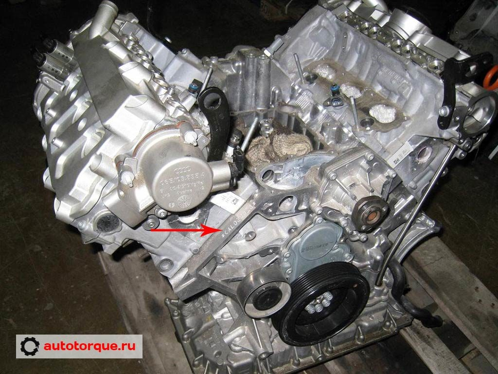 CALB номер двигателя 3.2 FSI