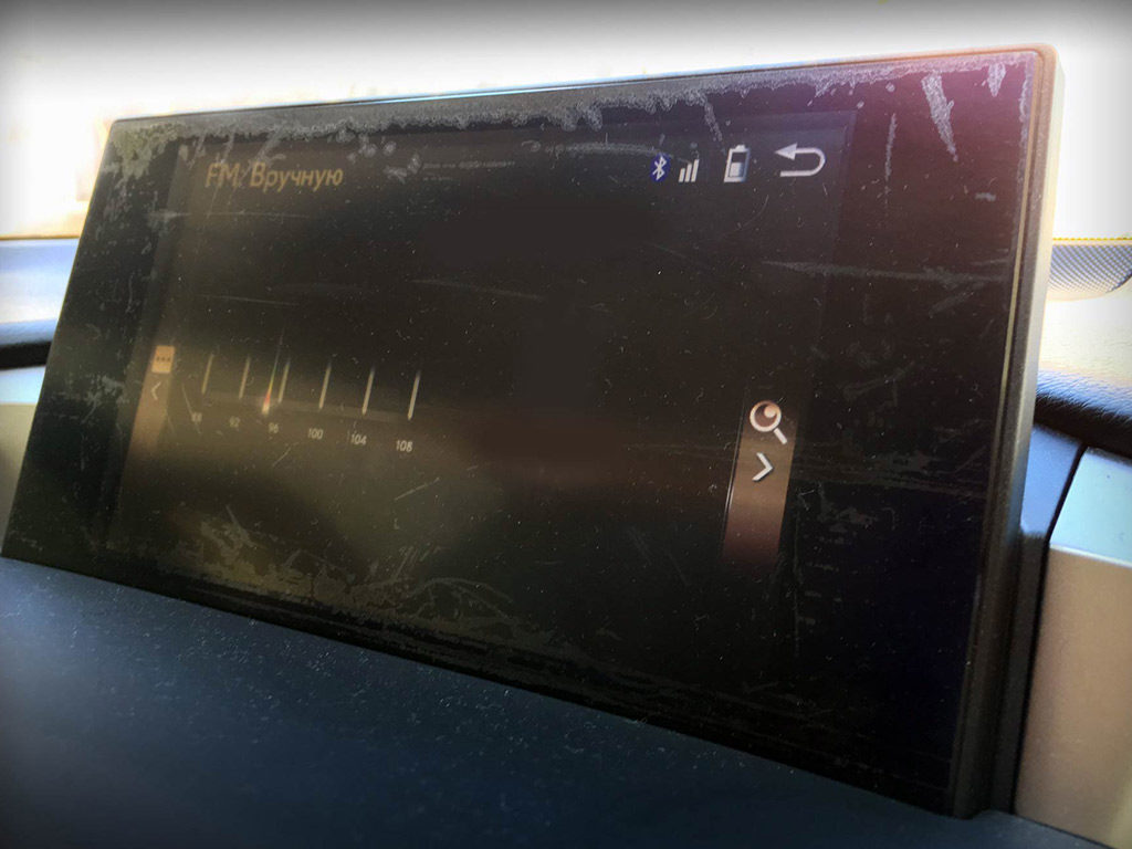 Lexus NX дисплей