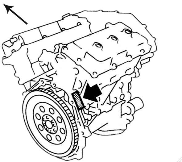 VQ35DE номер двигателя на блоке схема