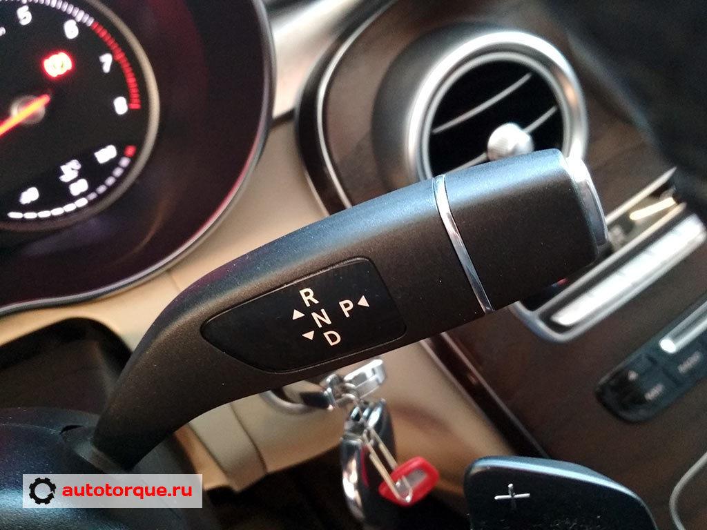 Mercedes-Benz-C-klasse-W205-селектор-кпп