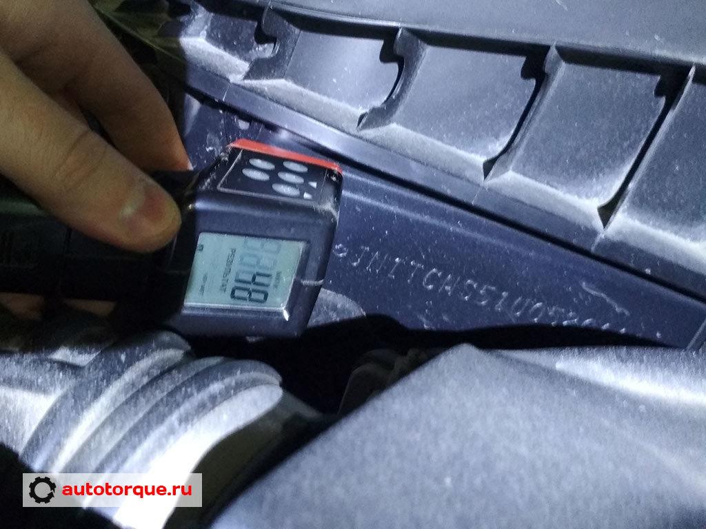 Infiniti FX35 QX70 S51 проверка VIN толщиномером