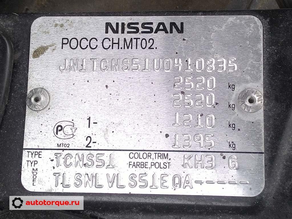 Infiniti FX37 QX70 S51 дублирующая табличка с VIN