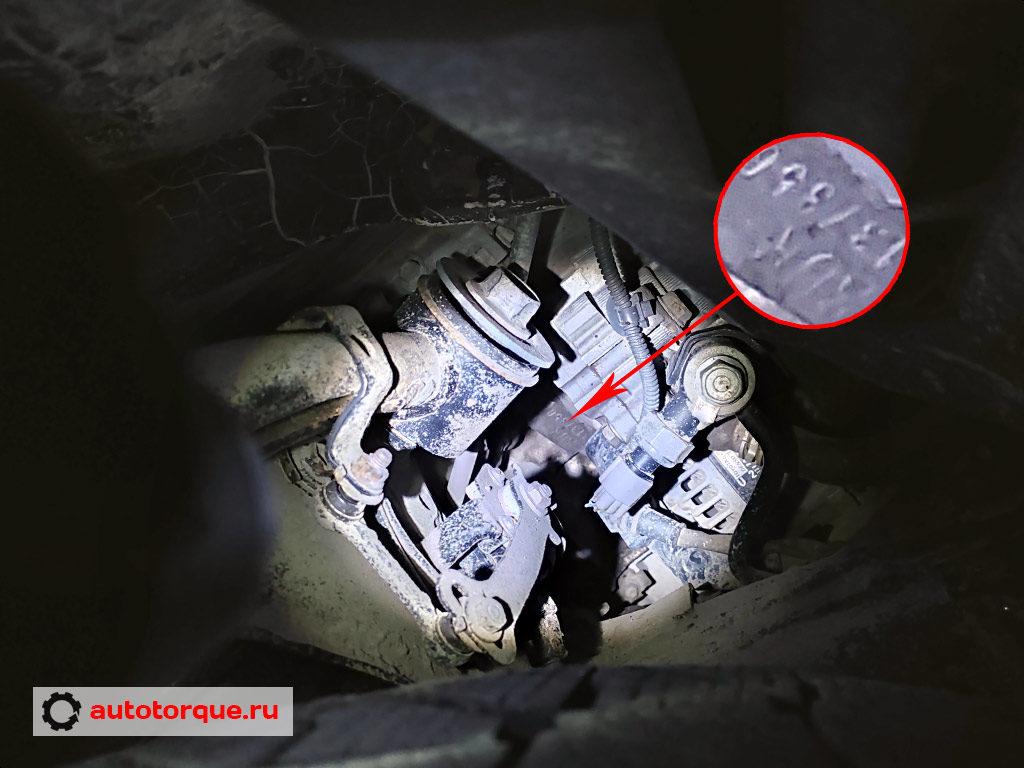 3UR-FE номер двигателя детально